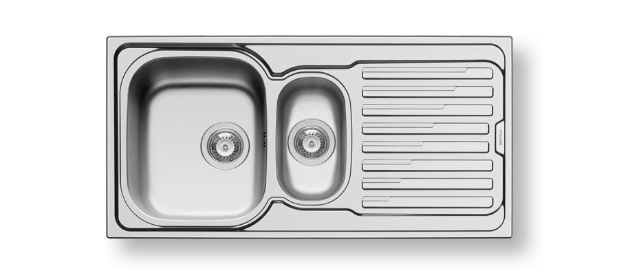 Edelstahl 2 Becken Küchenspüle Einbauspüle Küchen Spüle Spülbecken 120x60 cm
